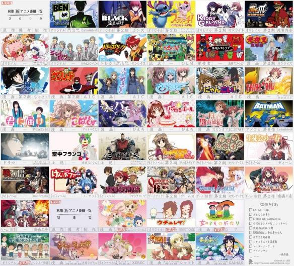 2009秋新作アニメ